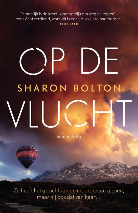 Boek cover Op de vlucht van Sharon Bolton (Onbekend)