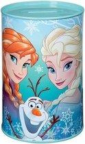 Mint groene Disney Frozen spaarpot blik 15 cm voor meisjes - Cadeau spaarpotten voor meisjes - Elsa Anna en Olaf