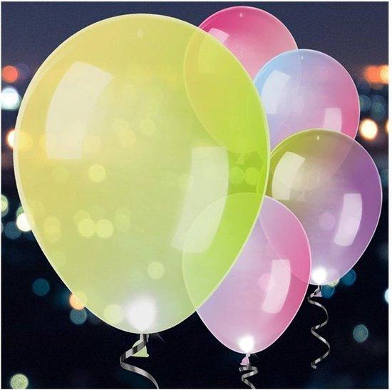 Ballonnen - LED Assorti Vaste Kleuren - 5 stuks