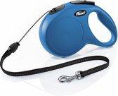 Flexi New Classic Koord - Hondenriem - Blauw - M - 8 m - (<20 kg)