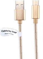 1 m Oplaadkabel. Metal Head USB kabel oplaadsnoer voor snelladen. Past ook op Denver. o.a. TAQ-70232, TAQ-70242, TAQ-70252, TAQ-70262
