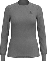 Odlo Bl Top Crew Neck L/S Active Warm Dames Thermoshirt - Grey Melange - Maat M