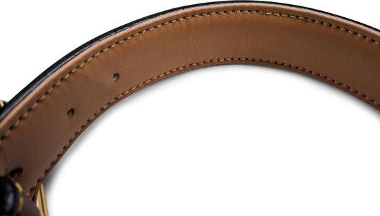 Brute Strength - Luxe leren halsband hond - Bruin - L - 61 x 3,5 cm - leren hals band