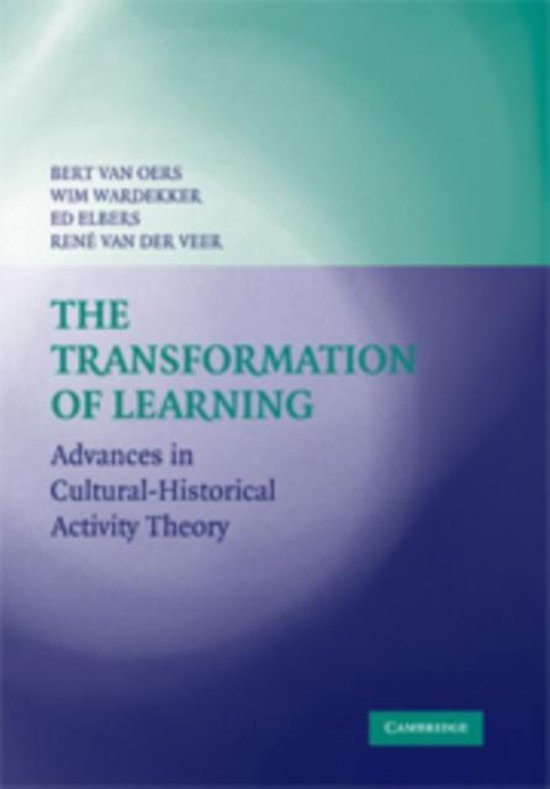 Boek cover The Transformation of Learning van Rene van der Veer (Paperback)