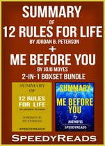 Omslag Summary of 12 Rules for Life: An Antidote to Chaos by Jordan B. Peterson + Summary of Me Before You by Jojo Moyes 2-in-1 Boxset Bundle