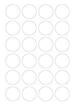 A4 etiketten 40 mm rond wit (100 vel)