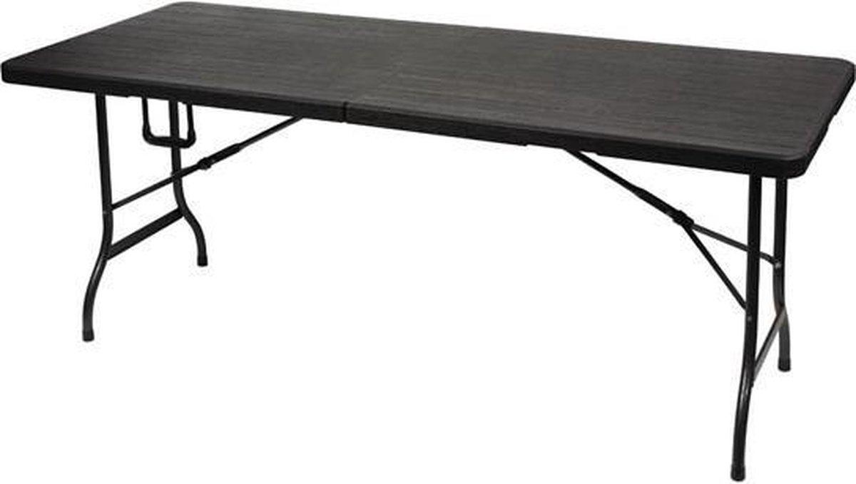 Perel vouwtafel - 180x75x74 cm - Houtlook
