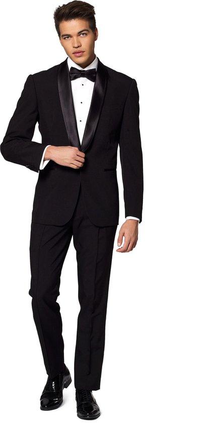 OppoSuits Jet Set Black - Heren Tuxedo Smoking met Vlinderdas - Chique - Zwart - Maat EU 52