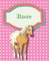 Handwriting and Illustration Story Paper 120 Pages Rose