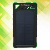 Smart 8.000 mAh Solar Powerbank Groen