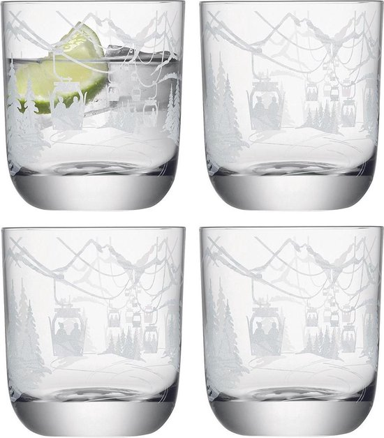 L.S.A. Alpine Waterglas - 325 ml - Set van 4 Stuks - Transparant
