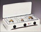 KitchenChef 5327C Tafelblad Gaskookplaat Wit kookplaat