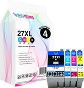 Inktdag inktcartridges voor Epson 27XL, multipack van 4 kleuren (1*BK, C, M en Y) geschikt voor Epson WorkForce WF-3620 DWF , WF-3640 DTWF , WF-7110 DTW , WF-7210 DTW , WF-7610 DWF , WF-7620 DTWF , WF-7710 DWF , WF-7715 DWF , WF-7720 DTWF