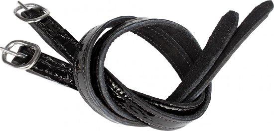 Horka Spoorriemen Lakleer 45 Cm Zwart Per 2 Stuks