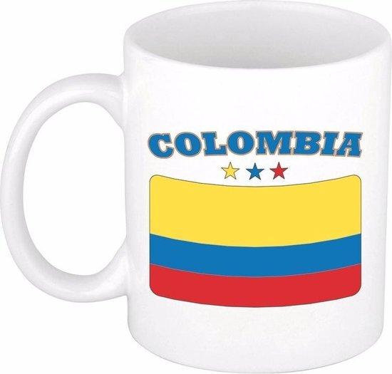 Beker / mok met de Colombiaanse vlag - 300 ml keramiek - Colombia