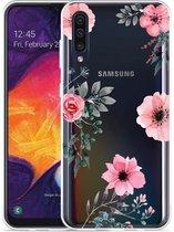 Galaxy A30s Hoesje Flowers
