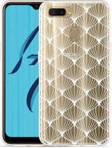 Oppo AX7 Hoesje White Abstract Pattern