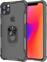 Let op type!! For iPhone 11 Pro Max Shockproof PC + TPU Protective Case with Ring Holder(Grey) A2218/A2161/A2220