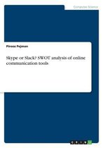 Skype or Slack? Swot Analysis of Online Communication Tools
