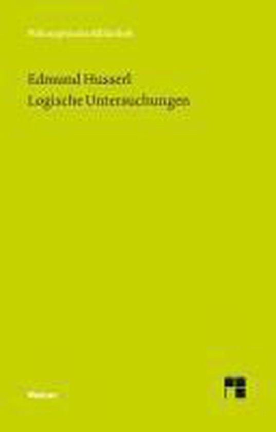 Boek cover Logische Untersuchungen van Edmund Husserl (Paperback)