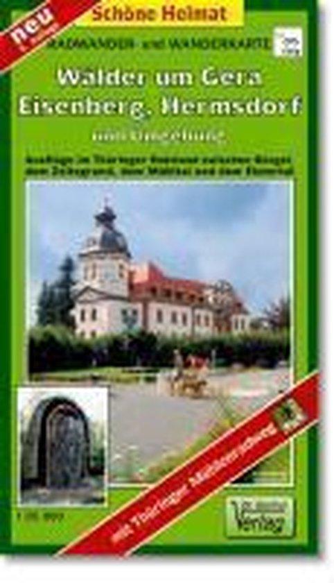 Radwander- und Wanderkarte Wälder um Gera, Eisenberg, Hermsdorf und Umgebung 1 : 35 000