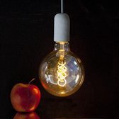 2 stuks Vintage LED lamp G125 Amber