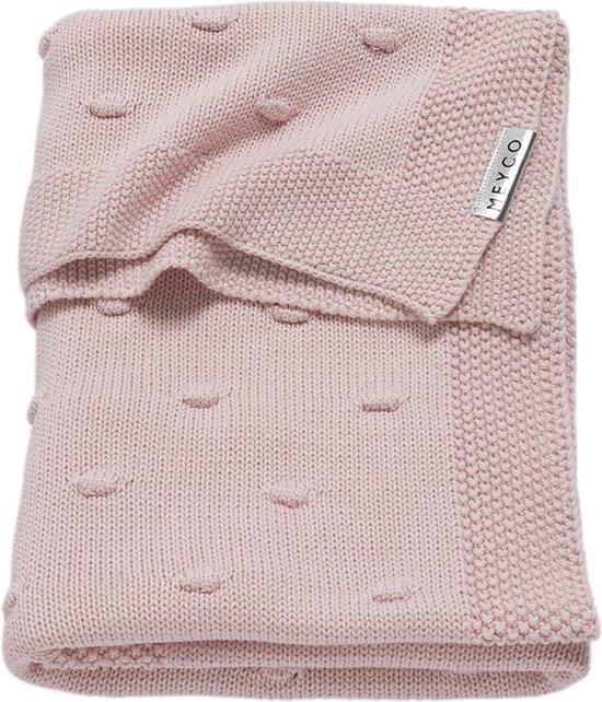Meyco Silverline Knots wiegdeken - 75 x 100 cm - roze