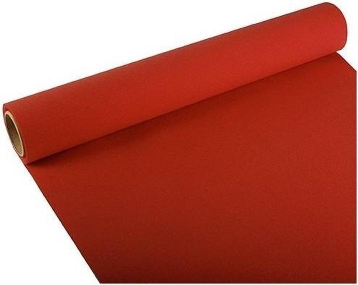 Tafelloper rood 300 x 40 cm papier - Merkloos