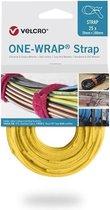 Velcro One-Wrap klittenband kabelbinders 200 x 12mm / geel (25 stuks)