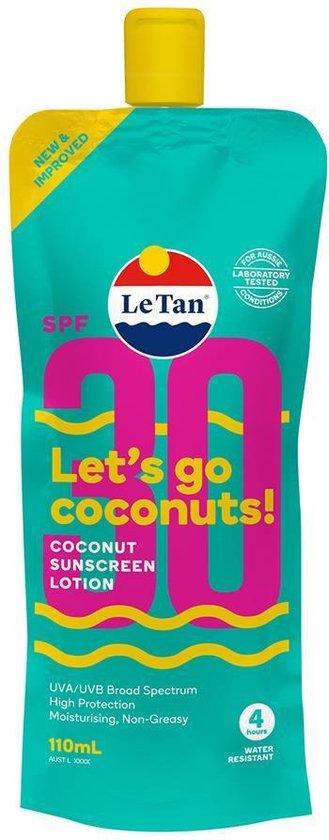 Le Tan Zonnebrand - Coconut Sunscreen Lotion - SPF 30 - 110 ml