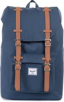 Herschel Supply Co. Little America Mid-Volume Rugzak - Navy/Tan Synthetic Leather