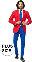 Grote maten heren kostuum Marvel Spiderman - Opposuits pak - Verkleedkleding/Carnavalskleding 56 (3XL)