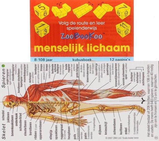 ZooBooKoo kubusboek - Menselijk lichaam - Onbekend pdf epub