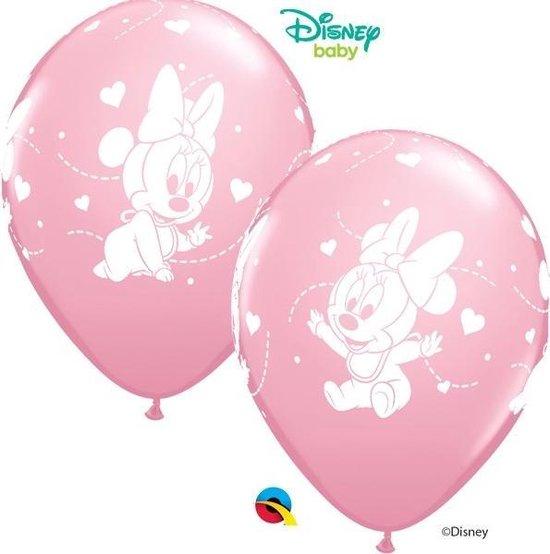 Disney Baby Minnie Mouse roze ballonnen ø 30,48 cm. 6 st