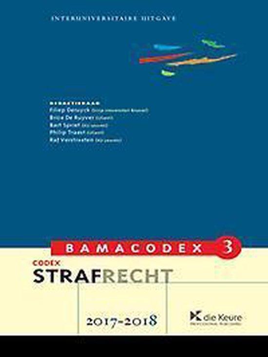 Bamacodex 3 - strafrecht 2017-2018 - Filiep deruyck   Fthsonline.com