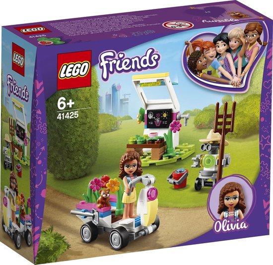 LEGO® Friends Olivia's bloementuin 41425 set met minipoppetjes, bevat tuingereedschap en een speelgoedvoertuig (92 onderdelen)