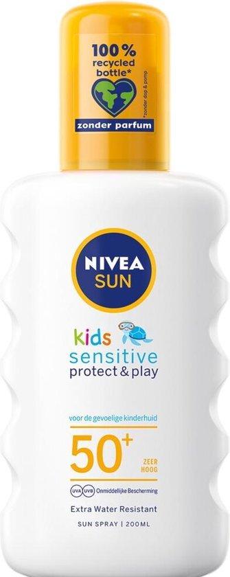 NIVEA SUN Kids Protect & Sensitive Zonnespray SPF 50+ - 200 ml
