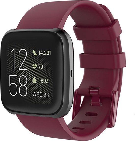 Shop4 Fitbit Versa 2 Bandje Small Siliconen Rood