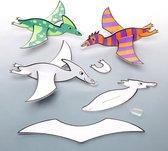 Baker Ross Inkleurbare dinosaurus zweefvliegtuigjes (8 Stuk) Creatieve Knutselset Voor Kinderen