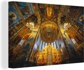 Een indrukwekkende kapel binnen een kerk uit het Byzantijnse Rijk canvas 90x60 cm - Foto print op Canvas schilderij (Wanddecoratie woonkamer / slaapkamer)