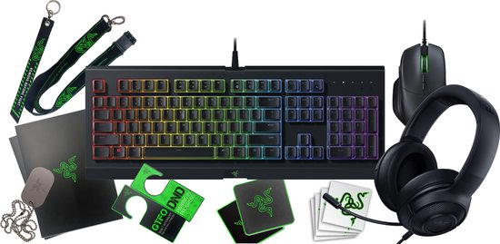 Razer Gaming Bundel Toetsenbord+Headset+Muis+Loot Pack - Qwerty