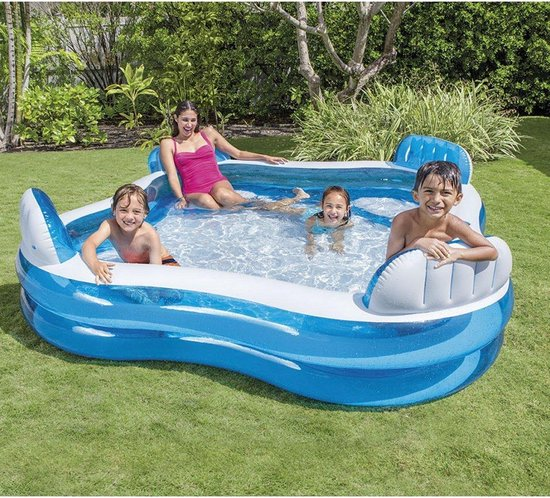 Intex Family Lounge Pool 229 x 229 x 66 cm - Opblaasbaarzwembad - Intex