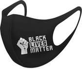SafeSave black lives matter modieuze wasbaar zwarte mondkapje- herbruikbare mondmaskers met print- niet medische mondmasker- face mask neopreen unisex mondkapjes- Ov geschikt boven 13 jaar gezichtsmasker-1 stuks