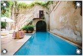 Tuinposter –Zwembad – 150x100 Foto op Tuinposter (wanddecoratie voor buiten en binnen)