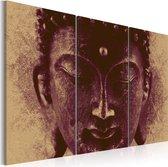 Schilderijen Op Canvas - Schilderij - Boeddha - gezicht 90x60 - Artgeist Schilderij