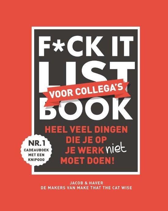 Boek cover F*ck it list book voor collega's van Jacob & Haver (Hardcover)