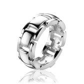ZINZI zilveren ring schakel glad ZIR1152