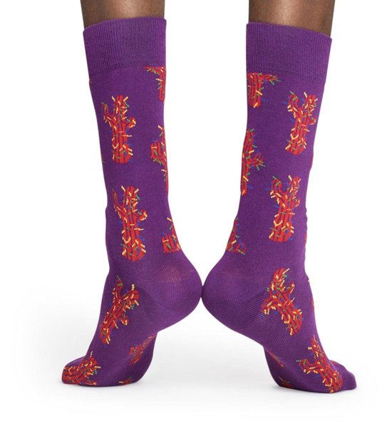 Happy Socks Cactus Sokken - Paars/Rood - Maat 36-40