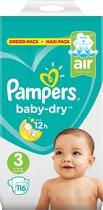 Pampers Baby-Dry Maat 3 (6-10 kg) - 116 luiers