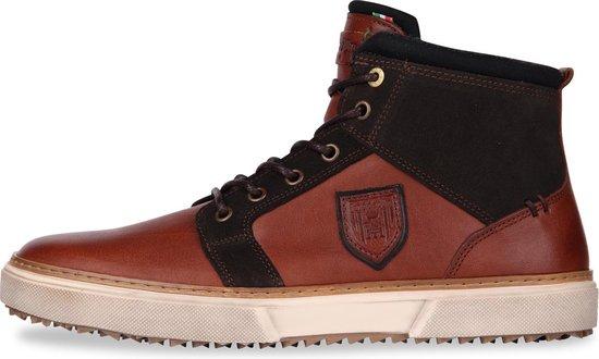 Pantofola d'Oro - Heren Sneakers Benevento Uomo Mid Tortoise Shell - Bruin - Maat 42
